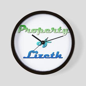 Property Of Lizeth Female Wall Clock