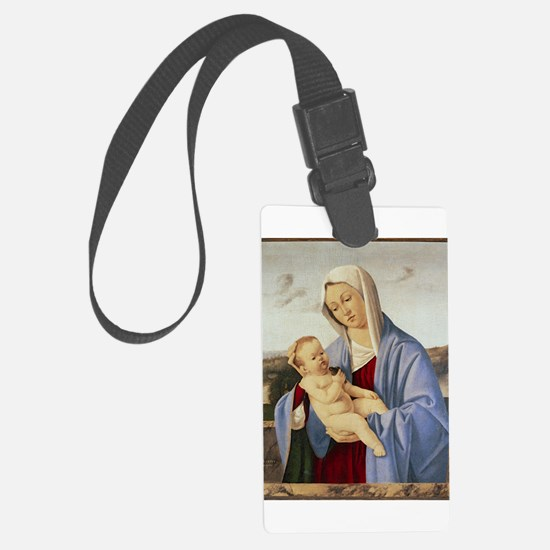 Vintage Painting of Madonna and Child Luggage Tag