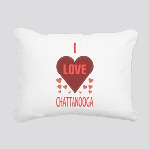 I LOVE CHATTANOOGA TN Rectangular Canvas Pillow