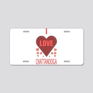 I LOVE CHATTANOOGA TN Aluminum License Plate