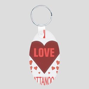 I LOVE CHATTANOOGA TN Aluminum Oval Keychain
