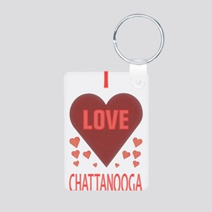 I LOVE CHATTANOOGA TN Aluminum Photo Keychain