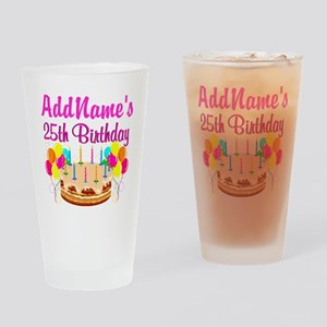 FANTASTIC 25TH Drinking Glass