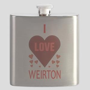 I LOVE WEIRTON Flask