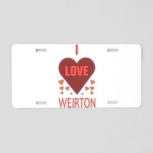 I LOVE WEIRTON Aluminum License Plate