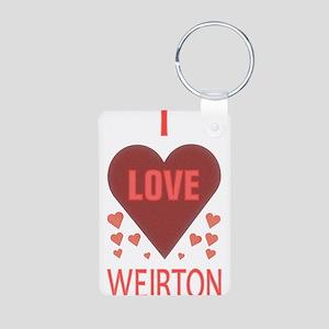I LOVE WEIRTON Aluminum Photo Keychain