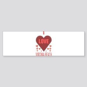 I LOVE Virginia Beach Sticker (Bumper)