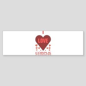 I LOVE CORPUS CHRISTI TEXAS Sticker (Bumper)