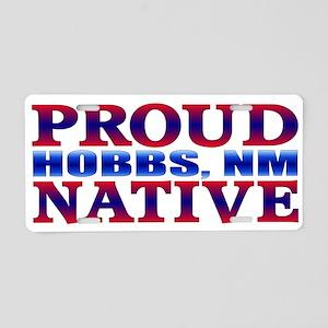 Hobbs New Mexico Native Aluminum License Plate