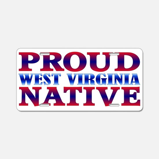 West Virginia Native WV Aluminum License Plate