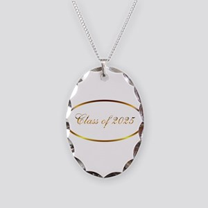 Class of 2025 Necklace Oval Charm