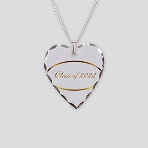 Class of 2023 Necklace Heart Charm