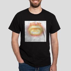 Vampire Fangs Bite Me Dark T-Shirt