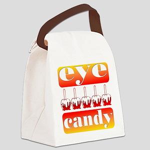 Halloween Eye Candy Canvas Lunch Bag