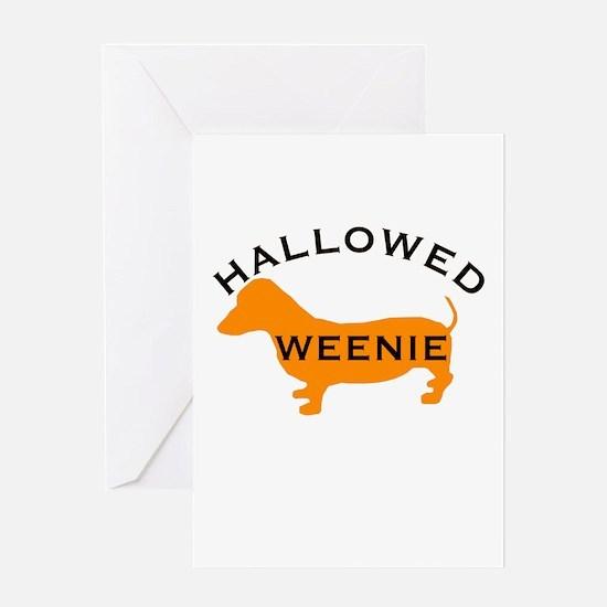Halloween Hallowed Weenie Dac Greeting Card