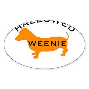 dachshund halloween stickers cafepress