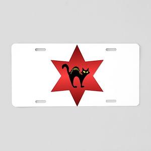 blackcat_DONTCROSS Aluminum License Plate