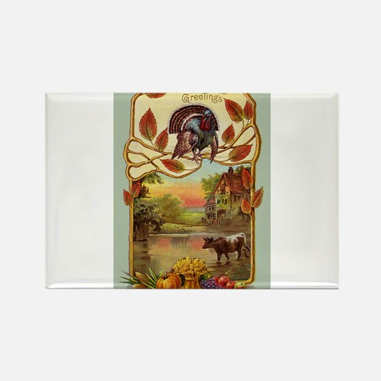 Thanksgiving Greetings Rectangle Magnet (100 pack)