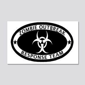 Zombie Outbreak Response Team 20x12 Wall Decal