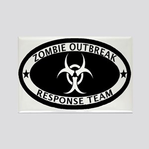 Zombie Outbreak Response Team Rectangle Magnet