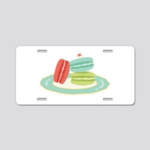 French Macarons Aluminum License Plate