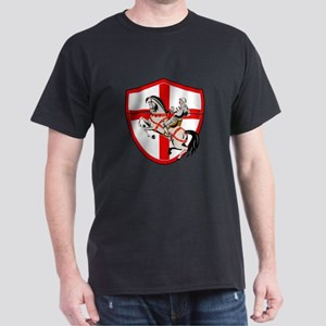 English Knight Rider Horse England Flag Retro T-Sh