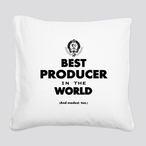 Best Producer in the World Square Canvas Pillow