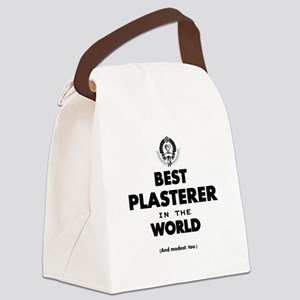 Best Plasterer in the World Canvas Lunch Bag