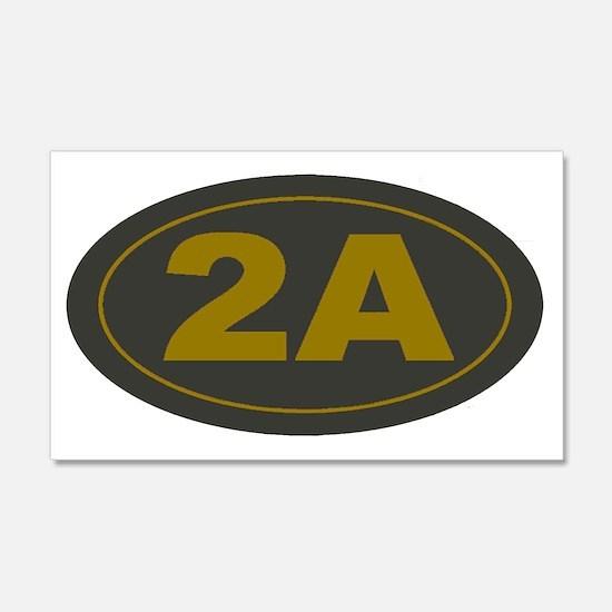 2A Second Amendment Patch Wall Sticker