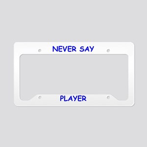 badminton License Plate Holder