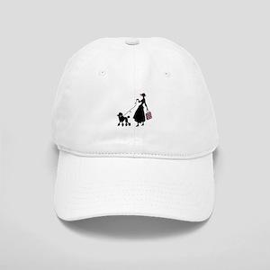 French Poodle Shopping Woman Baseball Cap