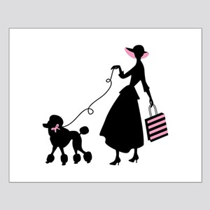 French Poodle Shopping Woman Posters