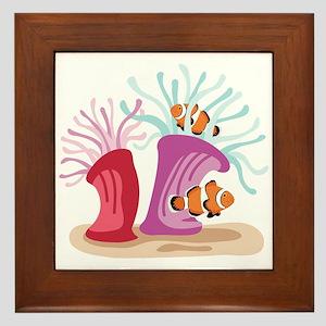Sea Anemones Clown Fish Framed Tile