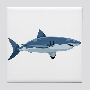 Great White Shark Tile Coaster