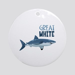 Great White Ornament (Round)