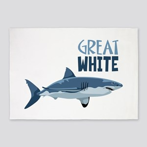 Great White 5'x7'Area Rug