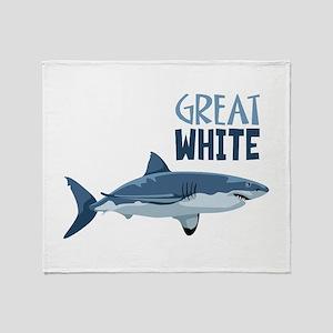 Great White Throw Blanket