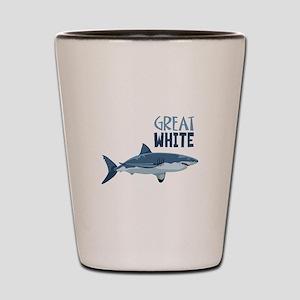 Great White Shot Glass