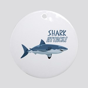 Shark Attack! Ornament (Round)