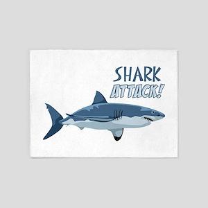 Shark Attack! 5'x7'Area Rug