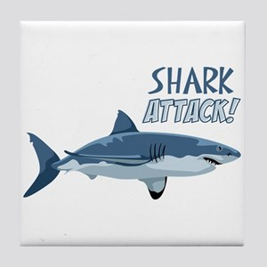 Shark Attack! Tile Coaster