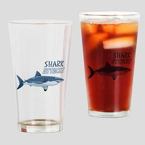 Shark Attack! Drinking Glass