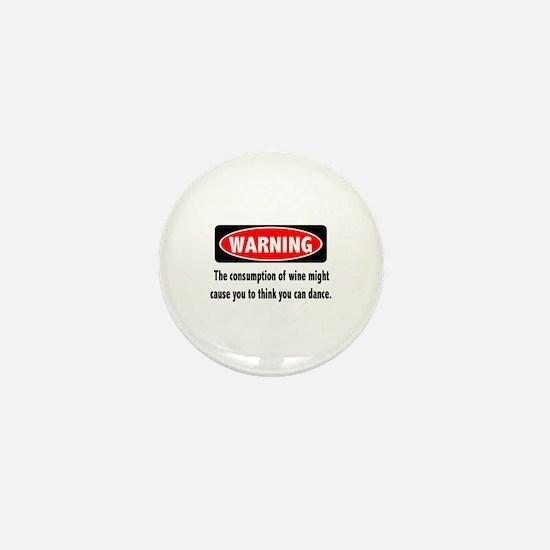 Wine Warning Mini Button