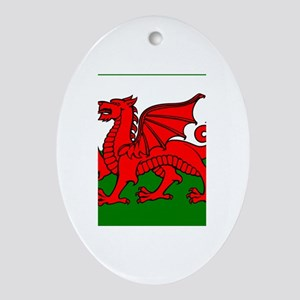 Wales Flag Oval Ornament