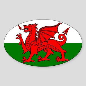 Wales Flag Oval Sticker