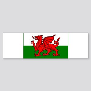 Wales Flag Bumper Sticker