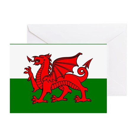 Wales Flag Greeting Cards (Pk of 10)