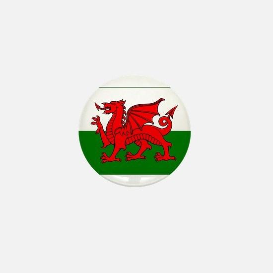 Wales Flag Mini Button