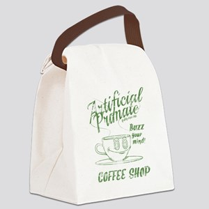 Vintage coffee shop Canvas Lunch Bag