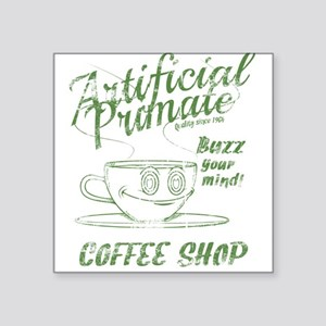 "Vintage coffee shop Square Sticker 3"" x 3"""